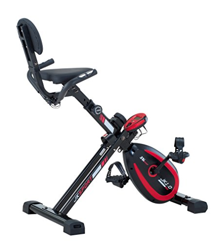 JK Fitness Jk1.0 X-Bike Recumbent Magnetico, Nero/Rosso
