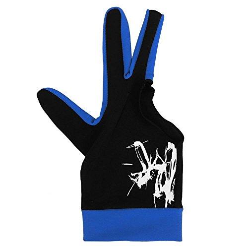 Tbest Billardhandschuhe Linke Hand, Snooker Handschuh Billard Billardhandschuh 3 Finger Billard Snooker Queue Handschuhe Snooker Zubehör für Mann Frau(Marine L)