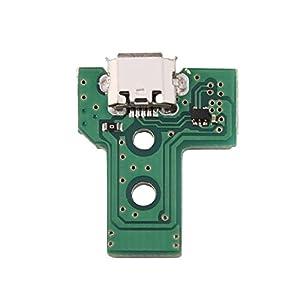 Zerone USB Ladekarte, Ladebuchse als Ersatz für Sony PS4 3rd Game Controller