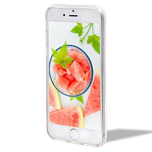 Cover Custodia per iPhone 6/6S,Girlyard [Crown Liquid] 3D Lusso Bling Colorate Corona Flusso Liquido Acqua Sabbie Water Stella Quicksand per Apple iPhone 6S/6 4.7 Brillantini Glitter Protettiva Custo Anguria Rosa