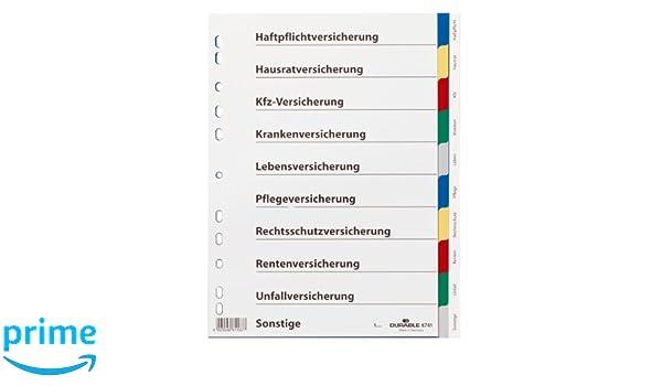 Universallochung Grau Durable Register A -Z Grau, 2er Pack DIN A4 PP 24-teilig