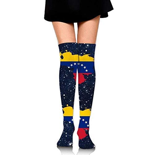 Preisvergleich Produktbild Bgejkos Flag Map Of Venezuel Unisex Over Knee High Socks Extra Long Athletic Sport Tube Socks