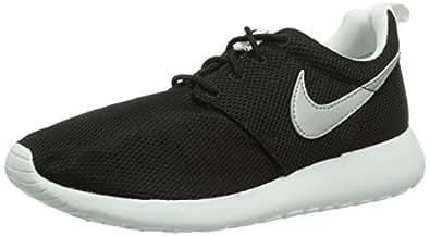 Nike Rosherun (GS) Laufschuhe black-metallic silver-white-white - 35,5