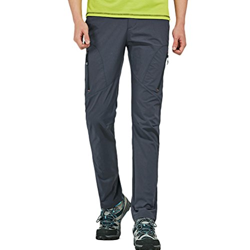 Zhhlaixing Uomo sportivo Pantaloni Men's Wear-resistant Lightweight Quick Drying Breathable Waterproof Hiking Camping Pants Trousers Sportswear Dark Gray