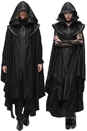Kostüm Holloween Hexe - Devil Fashion Punk Herren Damen Umhang Mäntel, Gothic Holloween Vampire Cospaly Cocktial Party Irregulär Persönlichkeit Lange Jacken