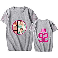 ZIGJOY KPOP BTS Map of The Soul Persona T-Shirt Camiseta Suga Jimin Jin Jungkook J-Hope para Los Fanáticos