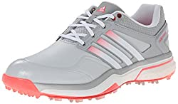 adidas Women s W Adipower Boost Golf Shoe Clear Grey/Running White/Flash Red 9.5 B(M) US