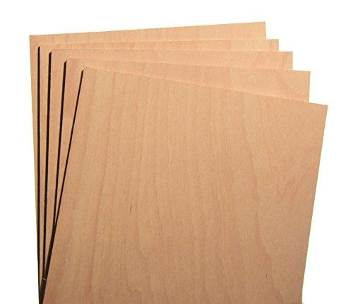 Hagspiel Sperrholzplatten 10 St. Buche Sperrholz A4 (ca. 30x21) 4 mm