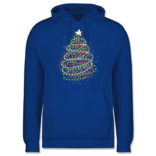 Weihnachten & Silvester - Abstrakter Weihnachtsbaum - Männer Premium Kapuzenpullover / Hoodie Royalblau