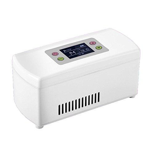 CNMF Tragbare Insulin-Kühlbox Kleiner Kühlschrank Kühlschrank Portable Mini Wiederaufladbare Smart Refrigeration Insulinkühlbox (20.4 * 9.4 * 9.1cm)