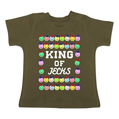 Karneval und Fasching Baby - King of Jecks - 3-6 Monate - Olivgrün - BZ02 - Baby T-Shirt ()