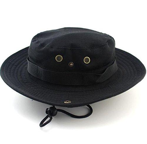 Arbre Obstschale tragbar outdoor Jungle Sonnenschutz Hat für Planspiel Sports Angeln (schwarz)