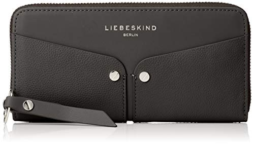 Liebeskind Berlin Damen Duo Sally Wallet Large Geldbörse, Schwarz (Black), 2x10x19 cm