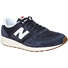 a7a819265be New Balance 420 Navy Suede Trainers - UK 10.5