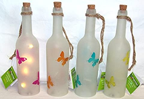 Premier Decorative LED Light Up Butterfly Bottle Indoor Outdoor Use 29cm x 7cm (Orange)