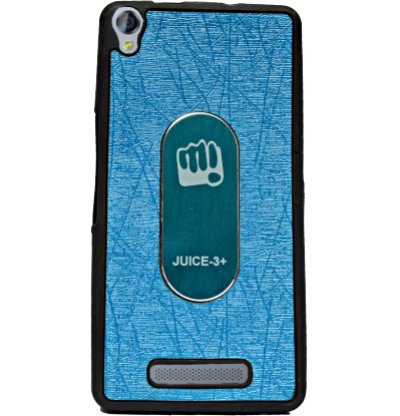 ECellStreet Exclusive Rubberised Soft Back Case Cover Back Cover For Micromax Canvas Juice 3+ Q394 - Light Blue  available at amazon for Rs.154