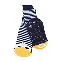 Weri Spezials Baby-Unisex Terry ABS Duck Slippers Anti Non Slip Socks