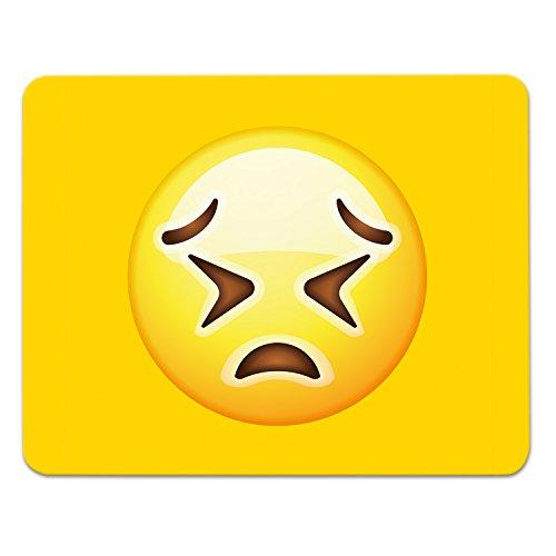 Addies Mousepad Emoji/Emoticons. Sehr schönes Mauspad Motiv in feiner Cellophan Geschenk-Verpackung mit Kautschuk Untermaterial, 240x190mm, Motiv-Angry