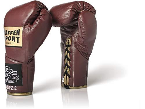 Paffen Sport «Pro Classic» Profi-Boxhandschuhe - Vintage rot - 10UZ - Vintage Leder Boxhandschuhe