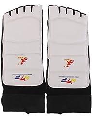 Taekwondo Protege-pieds Chaussette - Jinaoxin 1 Paire Protege-pieds Protection de Pied pour Taekwondo MMA Karate (XS)