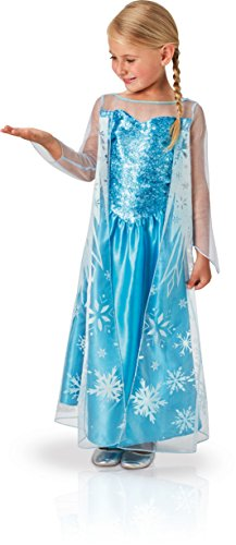 Kostüm Ice Queen Frozen - Rubie's 3620975 - Elsa Frozen Classic, Action Dress Ups und Zubehör, M (5-6Y)