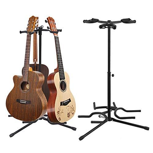 Sailnovo Gitarrenständer 3-fach Faltbarer Gitarren Ständer Metall