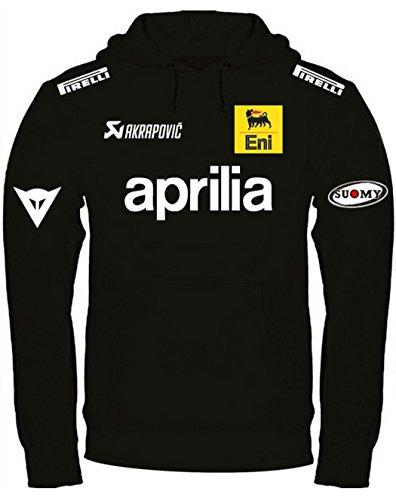 Sweatshirt Aprilia Kapuzenpullover personalisierte handgefertigt (m, Schwarz)