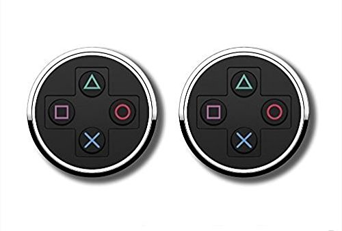 Gift Card Psn Ps4 (numskull Manschettenknöpfe - Cufflinks im Playstation Controller Button Design - schwarz - silber)
