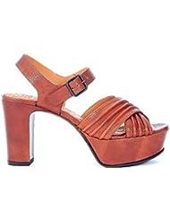 Sandale à talon Chie Mihara Marriot en cuir marron camel