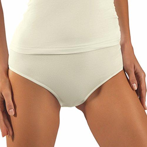3er Pack - Nina von C. - Pure - Taillen-Slip - super softes Feeling auf der Haut Creme