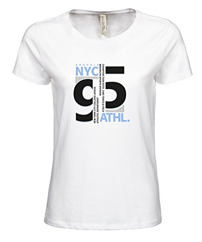 makato Damen T-Shirt Luxury Tee Brooklyn Team White