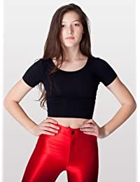 American Apparel Cotton Spandex Jersey Crop Tee rsa8380