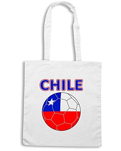 T-Shirtshock - Borsa Shopping T0705 chile calcio ultras Bianco