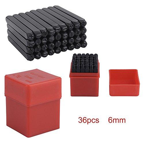 36 tlg. Gravurem Schlagzahlen und Schlagbuchstaben 0-9 und A-Z, Kombination Schlagstempel (6 mm x 60 mm)