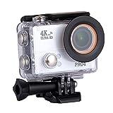 TOPmountain 4K Action Camera Wasserdichte Kamera, 170 ° Remote Hd 1080P Action Kamera Video Für Outdoor - Weiß