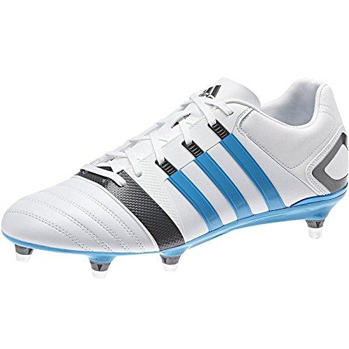 Sg Rugby Stiefel (Adidas FF80XTRX SG 2Rugby Stiefel, White,Blue, 8)