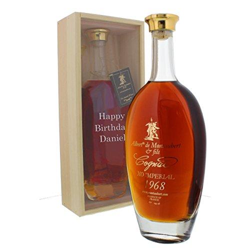 Cognac 1968 - Jahrgangscognac Albert de Montaubert 1968 mit individueller Namens-Gravur