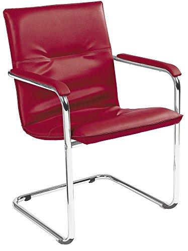 Besucherstuhl mit Swing-Gestell rot