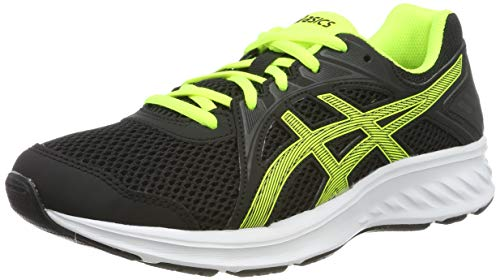 ASICS Unisex-Kinder JOLT 2 GS Laufschuhe, Schwarz (Black/Safety Yellow 003), 39 EU