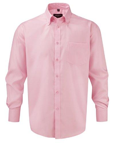 Z956 Bügelfreies langärmeliges Herrenhemd, Farbe:Classic Pink;Größen:4XL (49/50) (Gekämmte Shirt Twill Baumwolle)