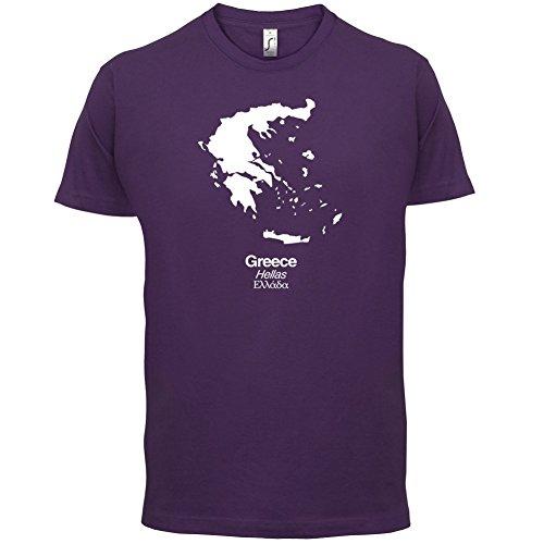 Greece / Griechenland Silhouette - Herren T-Shirt - 13 Farben Lila