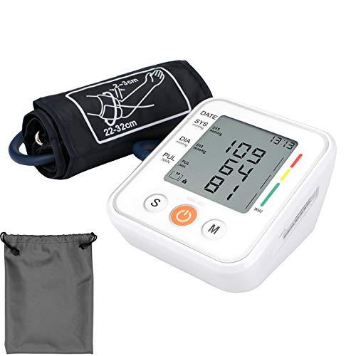 Expower Digitale Oberarm-Blutdruckmessgerät mit LCD-Display Leicht und Tragbar Blutdruckmessgerät Elektronische Vollautomatische Blutdruck-Die universelle Sicherheit