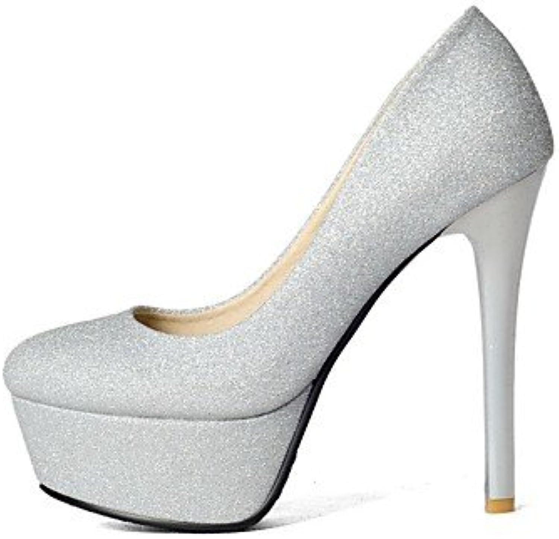 GGX/Damen-Schuhe Glitzer/Materialien die vier Jahreszeiten Heels/Plattform/Basic Pumpe heelswedding/Party