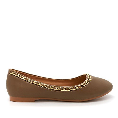 London Footwear - Ballet Donna Verde (cachi)