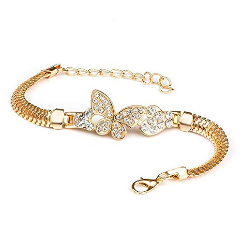 ll Schmetterling Charme Armbänder & Armreifen Mit Goldenen Schlangenkette Armbänder Für Frauen Schmuck Hohe Qualität ()