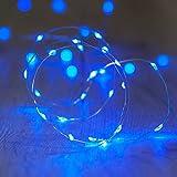 Lights4fun 20er LED Draht Micro Lichterkette Batteriebetrieb