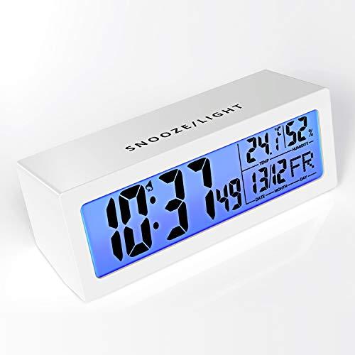 Cocoda Despertadores Digitales con Función Snooze Activada por Un Toque, Volumen de Alarma Ajustable...