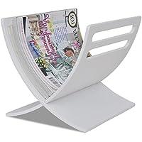 Lingjiushopping Zeitungsständer aus Holz für Zeitschriften weiß Material: Sperrholz Pappel Magazinständer preisvergleich bei billige-tabletten.eu