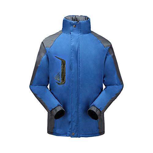 YUAND Outdoor Verdicken Isolierte Jacke Abweisend Winddichtes Gewebe Angenehm Lässige Arbeitskleidung Blau XL