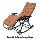 LIYANJIN Lounge-Sessel Schaukelstuhl,schaukelstuhl Relaxstuhl Wadenstütze Belastbarkeit 250kg,Brown